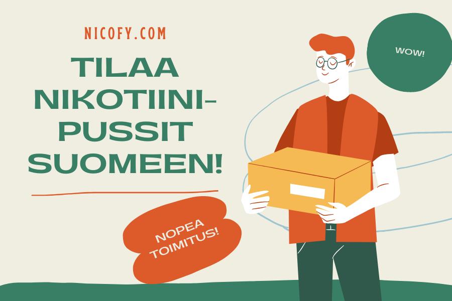Nikotiinipussien tilaaminen Suomeen
