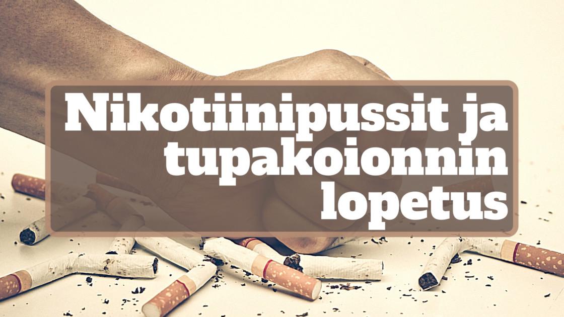 Nikotiinipussit tupakoinnin lopettamisen apuna